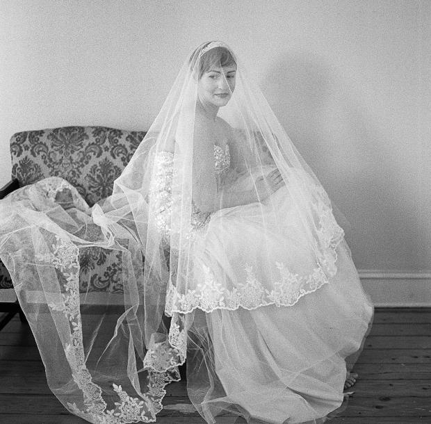 Hasselblad Film Wedding by Joel Bedford Photography; Bridal Portrait on Fuji Film;