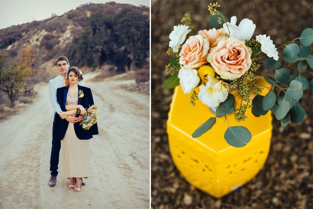 Joel Bedford Photography; TEmeculah Citrus Grove Wedding Inspiration; Yellow Vintage Wedding;