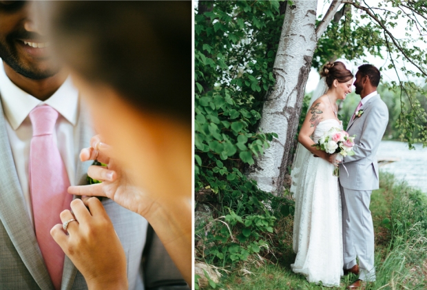 Joel Bedford Photography; Quebec Cottage Wedding; Gold and White Wedding Décor;