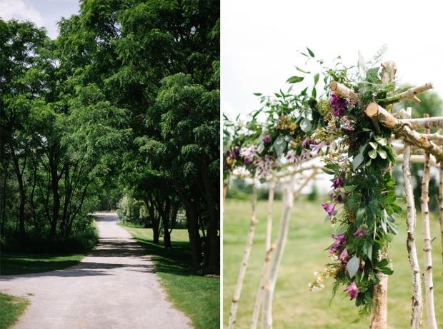 Joel Bedford Photography; Birch Floral Pergola; Stonefields Ottawa wedding;