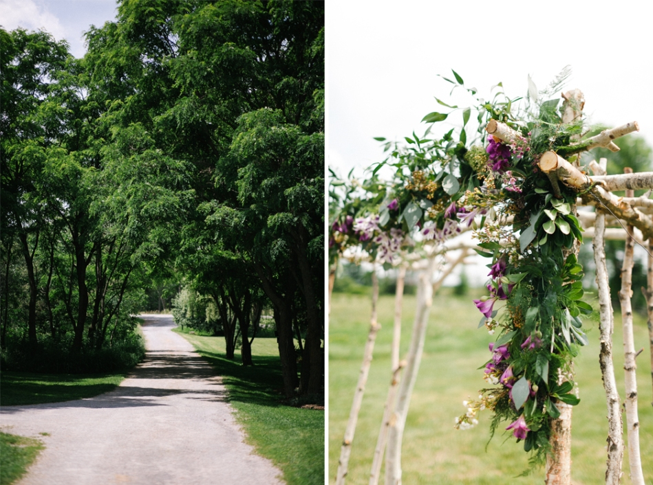 Joel Bedford Photography; Birch Floral Pergola; Stonefields Ottawa wedding;