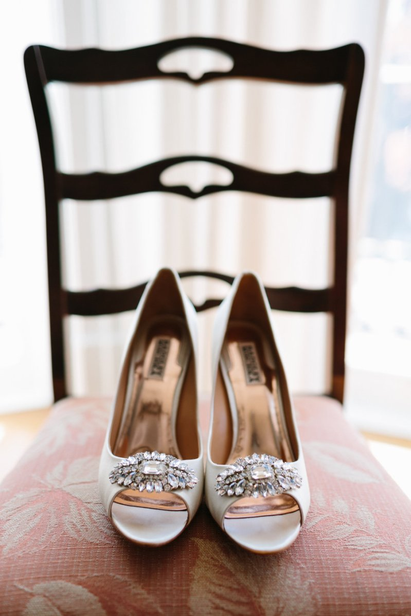 Joel Bedford Photography; Brookstreet Ottawa Wedding; Badgley Mischka Shoes Bridal;