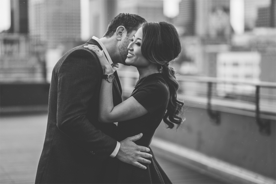 Joel Bedford Photography; Downtown Rainy Day Los Angeles Engagement Session;